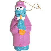SALE Collectible Sesame Street Cookie Monster with Saxophone Christmas Ornament