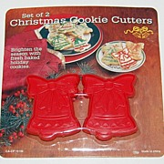 1980s Set of 2 Christmas Bell Cookie Cutters