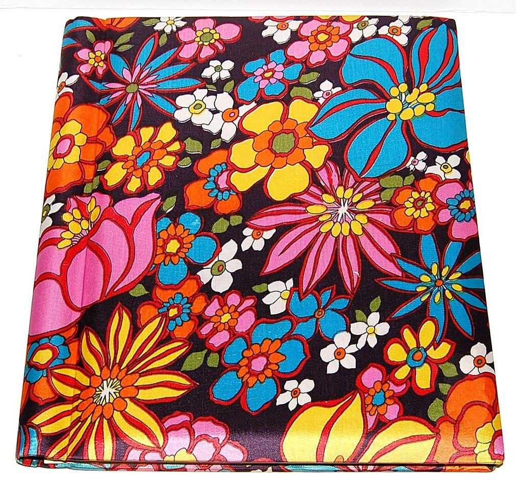 1960s Silver Port ~ Pop Art Floral Fabric Photo Album