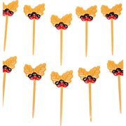SALE Set of 10 Acorn & Leaf Cupcake Toppers ~ 2 Sets Available