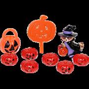 Hallmark ~ Set of 9 Witch & Pumpkin Cupcake Toppers