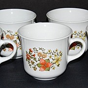 SALE 1960/70s Corelle ~ Indian Summer Mugs ~ Set of 7