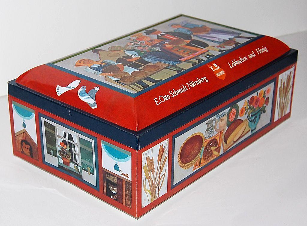 Vintage E. Otto Schmidt Biscuit Tin ~ West Germany