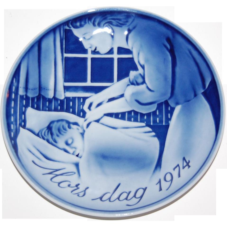1974 Georg Jensen ~ Denmark Mors Dag ~ Mother's Day Plate