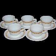 SALE Pyrex / Corelle Butterfly Gold 10-Pc Milk Glass Cup & Saucer Set