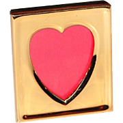 1980s Carr ~ Petite Solid Brass Heart Frame