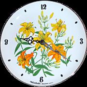 SALE Westfield by Bulova ~ Floral Porcelain Plate Clock