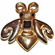 Vintage Goldtone Bumblebee w/ Silvertone Wings Brooch/Pin