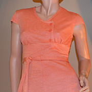 SALE 1960s Jerrell of Texas Orange Mini Dress