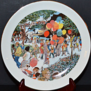 SALE 1973 Sunday at the Lincoln Park Zoo ~ Limited Edition Plate