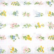 1960s Tastemaker ~ Trellis Garden Twin Percale Flat Sheet