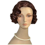 SALE 1980s Pouty Brown-Eyed Female Mannequin Bust