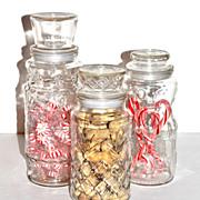 Set of 3 Planters Peanuts Jars