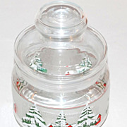 1970s Snowy Tree Christmas Candy Jar