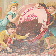 SALE 1890s Suchard Chocolates ~ Victorian Advertising Trade Card