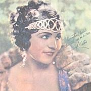 SALE 1920s Amattler Chocolates ~ Gladys Walton Advertising Trade Card