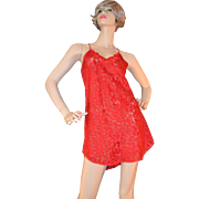 SALE Lucie Ann II Sheer Red Lace Nightgown