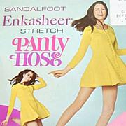 1960s Enkasheer ~ White Nylon Go-Go Pantyhose