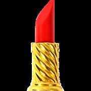 SALE 1980s Anne Klein ~ Cherry Red Lipstick Pin/Brooch