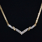 14K 1.06 ct tw Diamond V-Style Necklace
