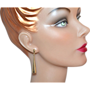 1970s 14K Cone-Shaped Dangle Earrings