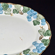 SALE 1960s Metlox Poppy Trail ~ Sculptured Grape Serving Platter