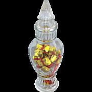 Victorian-Inspired Candy Jar w/ Original Lid