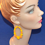 SALE Huge & Funky Enamel Pop Art Hoop Earrings