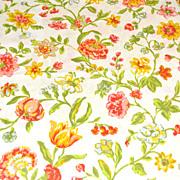 SALE 1960/70s Pequot ~ Yellow & Orange Flower Pillowcase