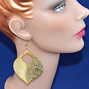 SALE 1970s Disco Genie Sparkly Dangle Earrings