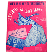 SALE 1942 'Something To Shout About' Sheet Music