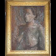SALE Listed Artist Olga Itasca Sears ~ Nude Female Original Framed Oil Painting w/ Bonus ...