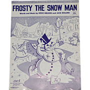 SALE 1950 'Frosty the Snowman' Sheet Music
