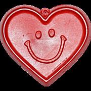 SALE 1982 Hallmark ~ Smiley-Face Heart Cookie Cutter
