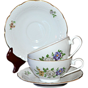 SALE Europa Bouquet ~ 4-Pc Czech Porcelain Cup & Saucer Set
