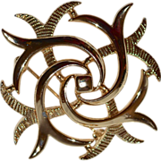 SALE Sarah Coventry Celtic Style Goldtone Brooch/Pin