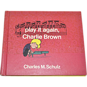 1971 'Play It Again, Charlie Brown' First Edition Hardcover Book
