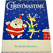 SALE 1987 Christmastime by Sandra Boynton First Edition Hardcover Book w/ DJ