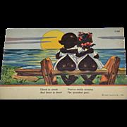 SALE 1930s Curteich Chocolate Drops Comics Color Linen Postcard
