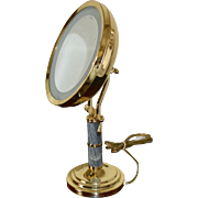 SALE Fancy Deco Inspired Large Swivel Lighted Magnified Vanity Mirror