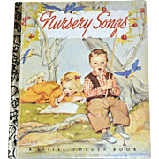 SALE 1992 Nursery Songs 50th Anniversary Little Golden Book