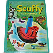 1974 Scuffy The Tugboat Big Golden Book ~ Hardcover, Second Printing