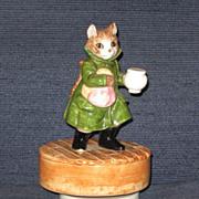 SOLD Schmid Music Box, Beatrix Potter Simpkin Cat