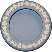 Wedgwood Candy Dish in Powder Blue Jasperware with Grape Vine Border, 1958