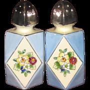 MIJ Deco Angular Luster Ware Salt & Pepper Set, Corks