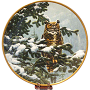 Spode Bone China Great Horned Owl Collector's Plate by John Seerey-Lester, Limited Edition C