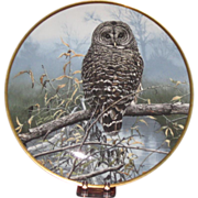 "Spode ""Autumn Mist"" Spotted Owl Collector's Plate by John Seerey-Lester Ltd Ed, Artist S"