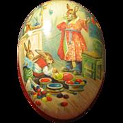 "Large 6"" Size Paper Mache Erzgebirge Easter Egg"
