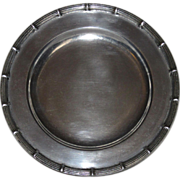 Small Wilton Armetale Pewter Plate, Bamboo Pattern