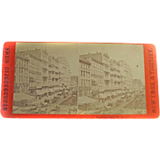Stereoscopic Gems Albumen Stereo Card New York & Vicinity Broadway Looking Up (Instantaneous)